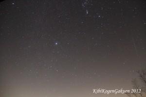 吉備高原の冬の夜空(12/14 00:06撮影)