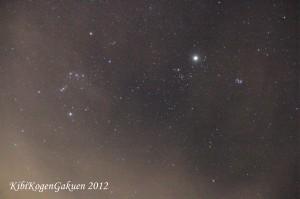 吉備高原の冬の夜空(12/14 00:48撮影)
