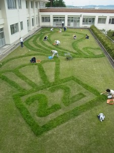 校舎の3階から見下ろすと・・・