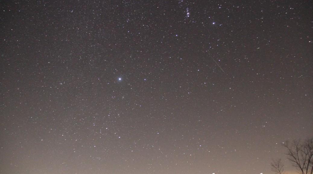 吉備高原の冬の夜空(12/14 00:13撮影)