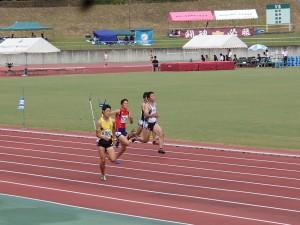 坂本君の力走(100m)、自己新までもう少し!