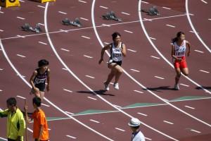 3年島田さんの力走(100m)