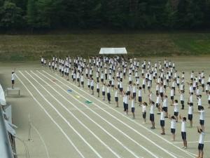 演技の最初は「準備体操」