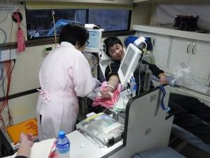 献血車内の様子