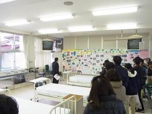 実習室の見学(福祉ボランティアコース)。