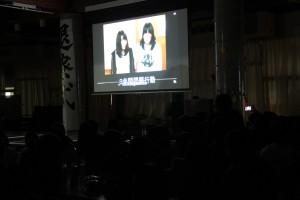 放送野外活動部(思い出の映像、教員、生徒らからの激励メッセージなどの映像)。