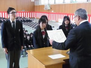 日本私立中学高等学校連合会会長賞(森さん)