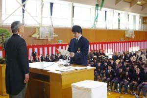 卒業記念品贈呈(目録)