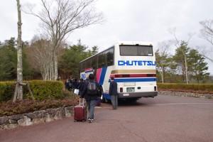 1年生だけの帰省日ですのでバスは1台。