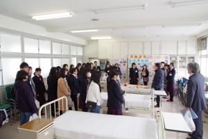 実習室の見学(福祉ボランティアコース)
