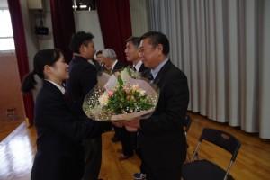 花束贈呈。