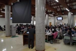 会場は、寮併設の大食堂でした