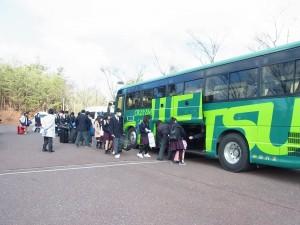 JR岡山駅行直行バス。