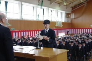 入学生代表宣誓。