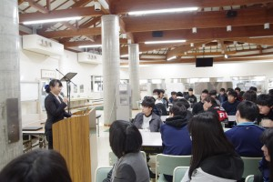 大学生の岡本先輩より。