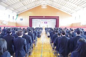 校歌斉唱。