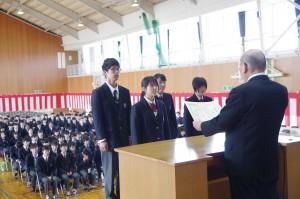 学外賞受賞生徒。