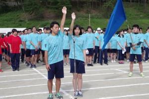 代表生徒による「宣誓」。