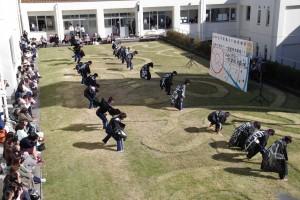 健康スポーツコース生徒による「ソーラン節(踊り)」。