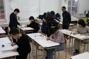 令和2年度新設の「マンガ・アニメーションコース」の在校生による模擬授業。