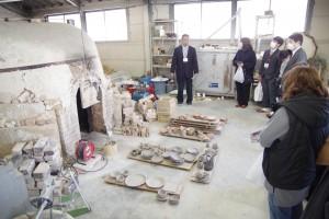 陶芸デザインコース「備前焼登り窯」。