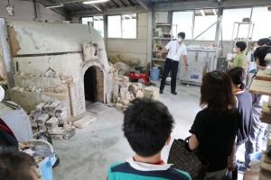 陶芸デザインコース(登窯焼成室)。