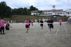 100m走決勝(男子)。
