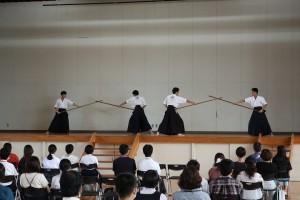 古武道部演舞。