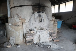 火が止められた後の窯の様子。