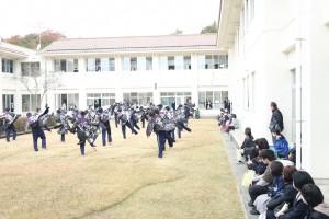 健康スポーツコース所属生徒による「ソーラン節」の踊り。