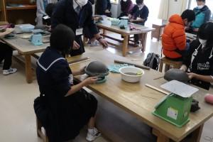 陶芸デザインコース(お皿づくり)。