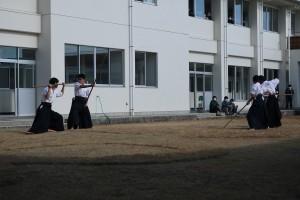 最後は、古武道部の演武をご披露。
