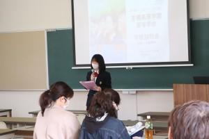 代表生徒による、高校生活体験談など。
