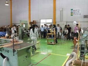 クラフトデザインコース(木材加工の実習室)