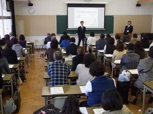 学校概要説明では本校の卒業生(大学生)からも体験談が。