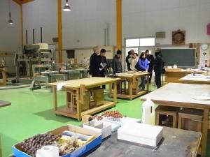 コース実習室の見学(クラフトデザイン)