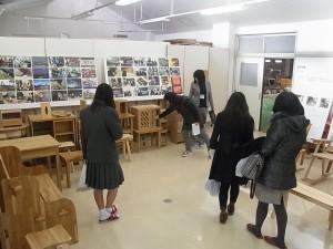 生徒作品展示。