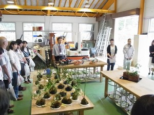 コース見学(緑化システムコース実習室)