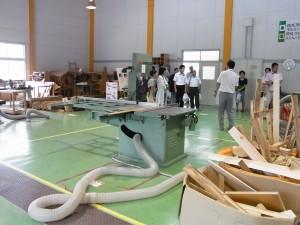 クラフトデザインコース実習室(木材加工室)