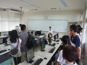 実習施設の見学(情報システムコース)