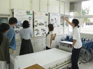 福祉ボランティアコースの活動紹介を生徒が。