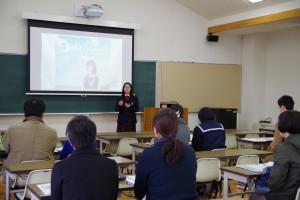 全大会では生徒会長からも生徒を代表して体験談が。