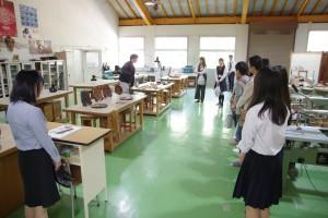 クラフトデザインコース(漆芸部門)実習室(所属3年生より作品の紹介)