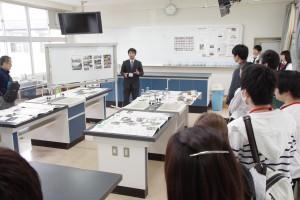キャリアデザインコース(理科実験室にて説明)