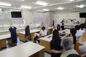 生活デザインコース(被服実習室)。