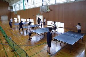 健康スポーツコース(卓球など各種競技)。
