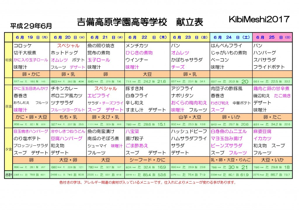 KibiMeshi20170619-0625