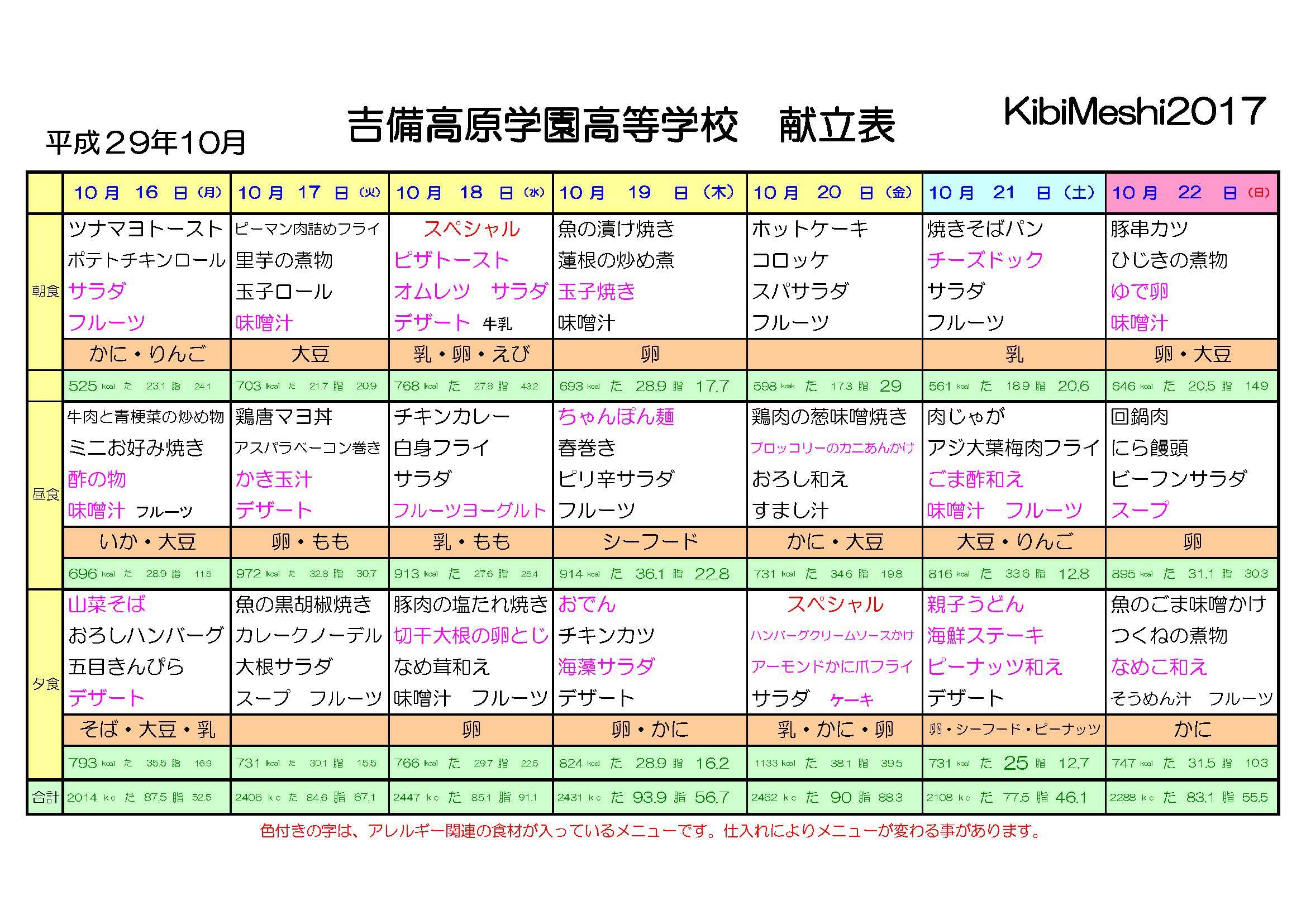 KibiMeshi20171016-1022