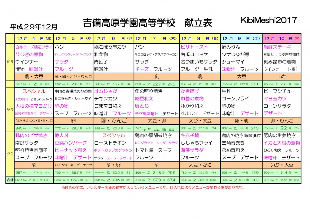KibiMeshi20171204-1210