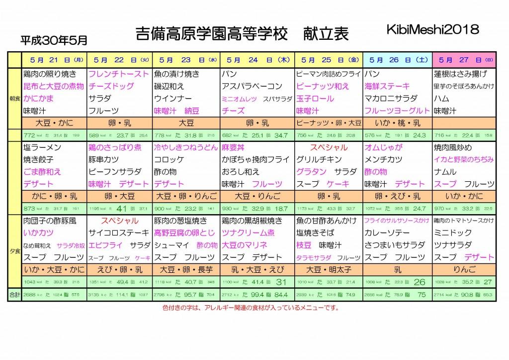 KibiMeshi20180521-0527